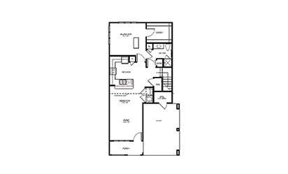 TH2 - 2 bedroom floorplan layout with 2 bath and 1264 square feet
